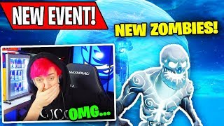 Ninja Reacts To *NEW* ICE KING EVENT! (ICE ZOMBIES) | Fortnite Funny Moments