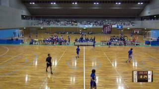 5日 ハンドボール女子 国体記念体育館 Dコート いわき総合×日川 1回戦 2