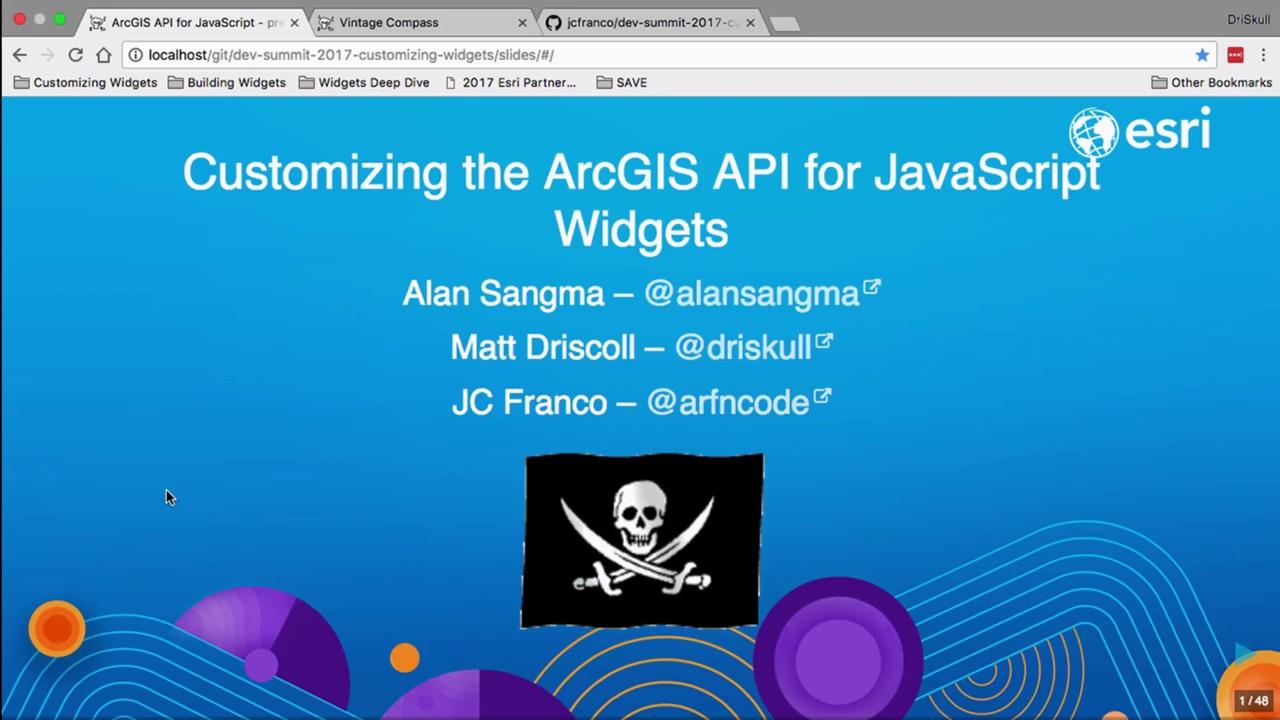 Customizing the ArcGIS API for JavaScript Widgets