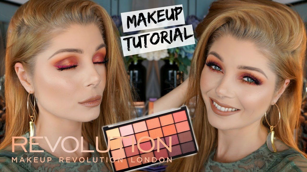 Red Eyelook Trying Out Makeup Revolution Guest List Palette Youtube