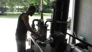 Get Off Electical Grid Survival - Homemade Woodgas Syngas Gasifier Electricity Generator Video One