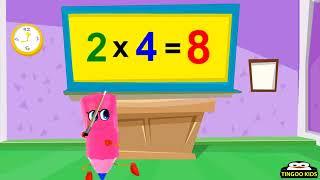 Homeschool Preschool   2 Times Table Song   Online Math Education English Langu