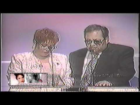 1996 Tejano Music Awards - Marcella & Abraham Quintanilla Accepting Selena's Award.