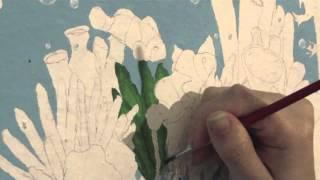 Pintando las algas (parte 2) - Proyecto Pared (Under de sea)