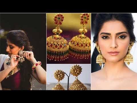 Celebrities Show How To Style Jhumkas With Saree