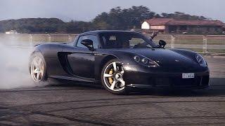 """فيديو"" شاهد أجدد استعراض دريفت احترافي قامت به بورش ""كاريرا جي تي""  Porsche Carrera GT"