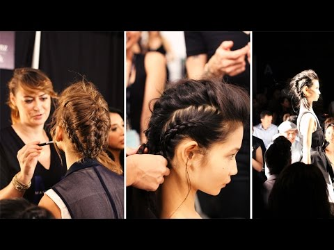 Braided Hairstyle at the Marissa Webb Show at NYFW