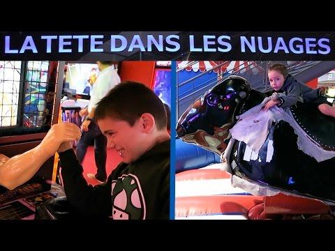 VLOG - NOCTURNE à La Tête dans les Nuages à Paris - La plus grande salle de jeux d'Europe !