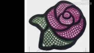 Урок 192. Филейные розы. Вязание крючком.