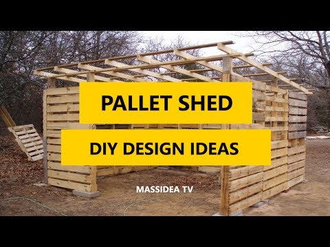 45+ Best Pallet Shed DIY Design Ideas 2018