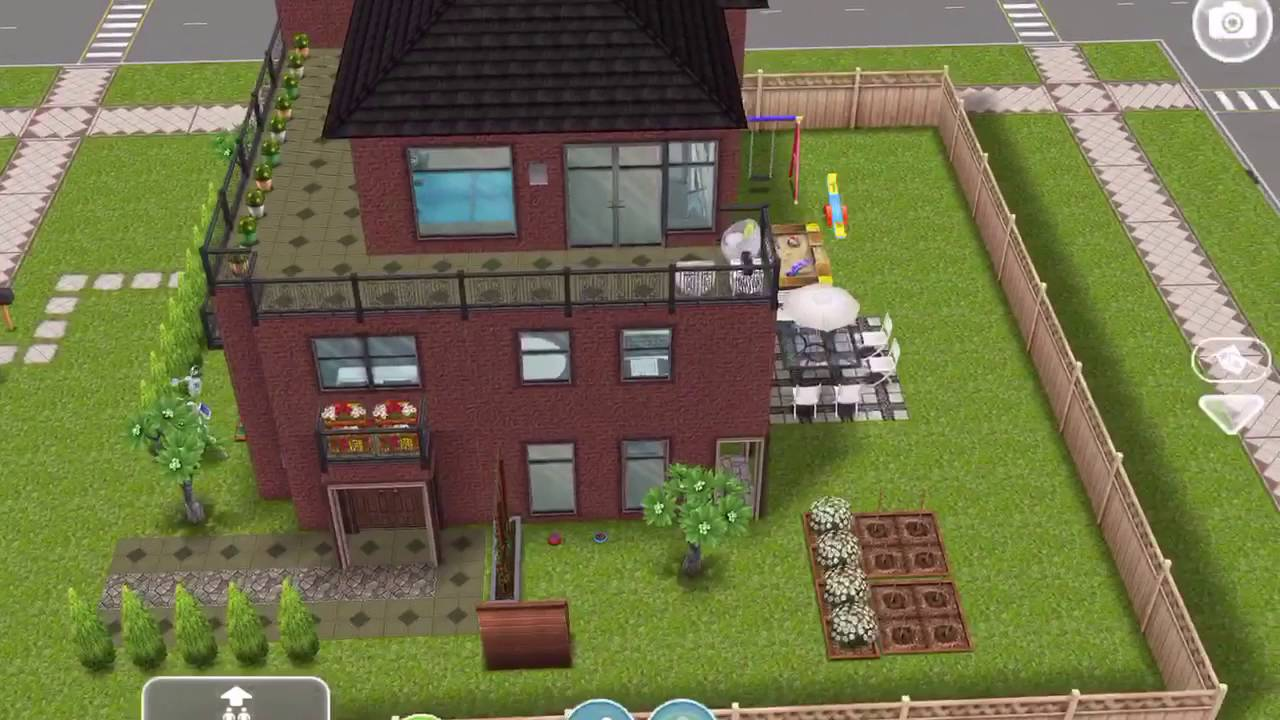 Sims freeplay modern family home original house design youtube - Sims freeplay designer home ...