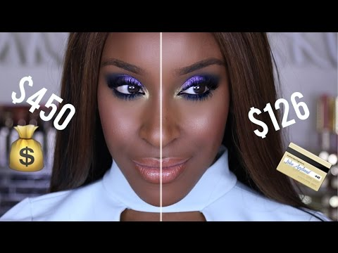 High End Vs. Low End Makeup | Jackie Aina