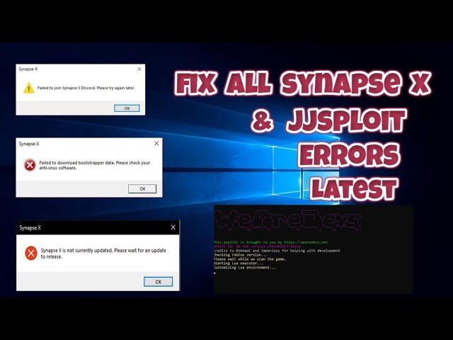 Roblox Synapse X Visual Studio Theme Download How To Get How To Fix Synapse X Jjsploit Not Working Installing Opening Stopped Working Not Executing Errors Youtube