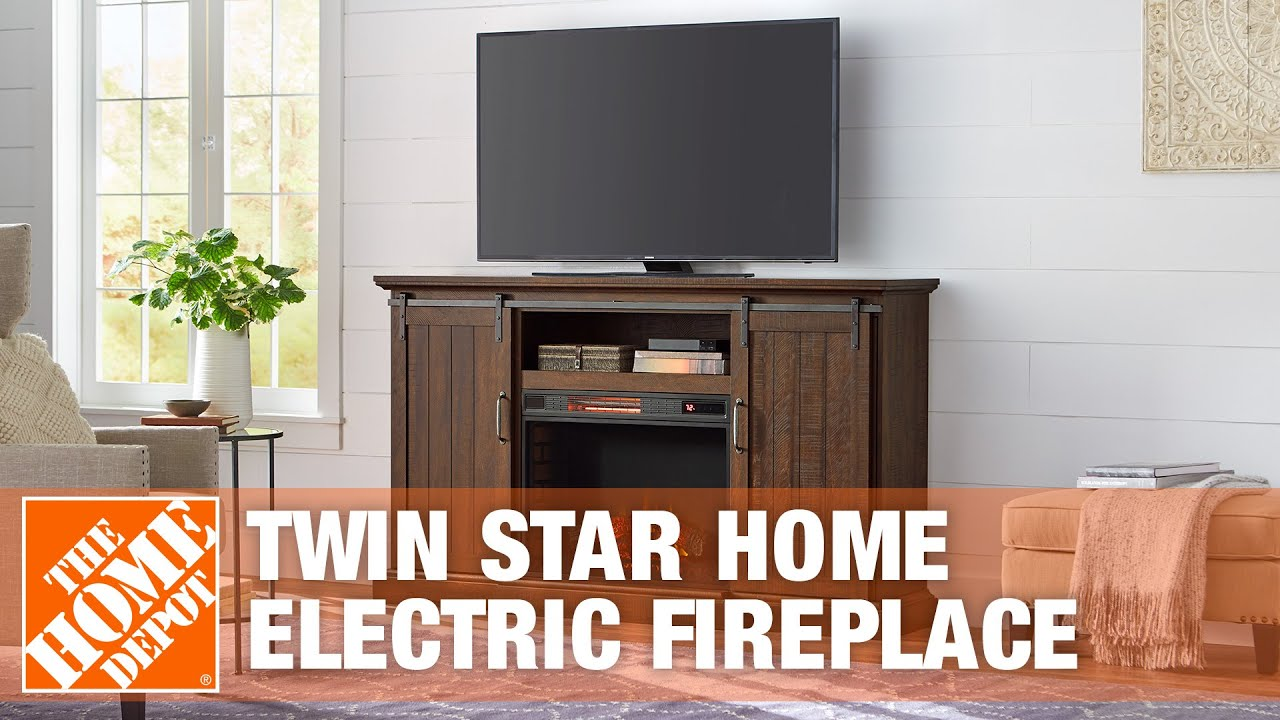 Twin Star International Electric Fireplace - YouTube