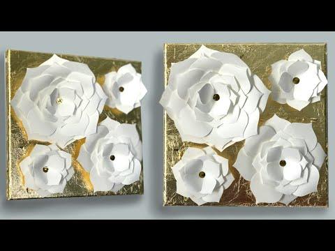 diy-wall-art---flowers-on-canvas