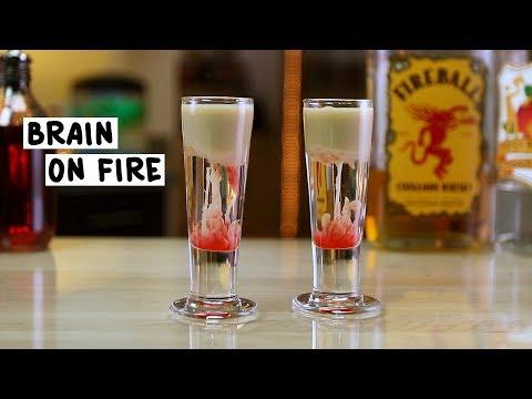 Brain on Fire Shot - Tipsy Bartender
