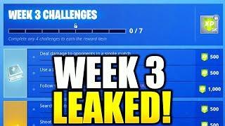 FORTNITE SEASON 6 WEEK 3 CHALLENGES LEAKED! WEEK 3 ALL CHALLENGES EASY GUIDE SEASON 6 WEEK 3!