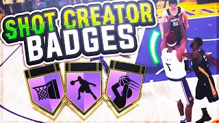 NBA 2K19 TIPS: HOW TO UNLOCK ALL SHOT CREATOR BADGES - SHOT CREATING BADGES HALL OF FAME TUTORIAL