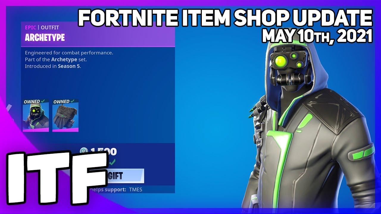 Fortnite Item Shop *RARE* ARCHETYPE SET IS BACK + MORE! [May 10th, 2021] (Fortnite Battle Royale)
