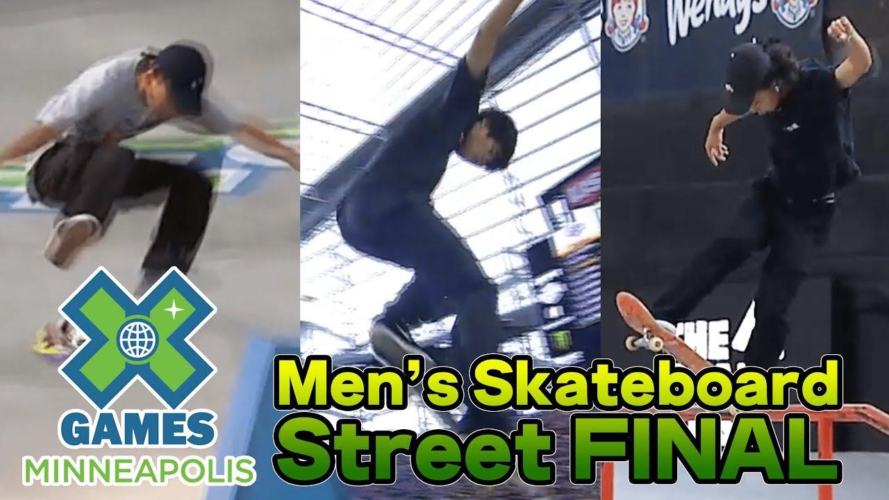【ダイジェスト】Men's Skateboard Street/X Games Minneapolis 2019/YUTO HORIGOME,SORA SIRAI,DAISUKE IKEDA,
