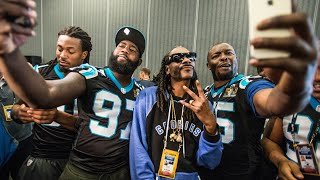 Snoop Dog Takes Over Panthers Media Day