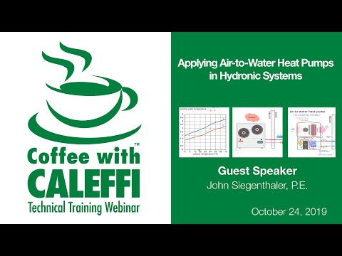 Applying Air To Water Heat Pumps In Hydronic Systems