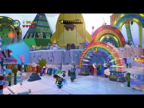 The LEGO Movie Videogame - Cloud Cuckoo Land 100% Guide (Gold Instruction Pages/Pants)