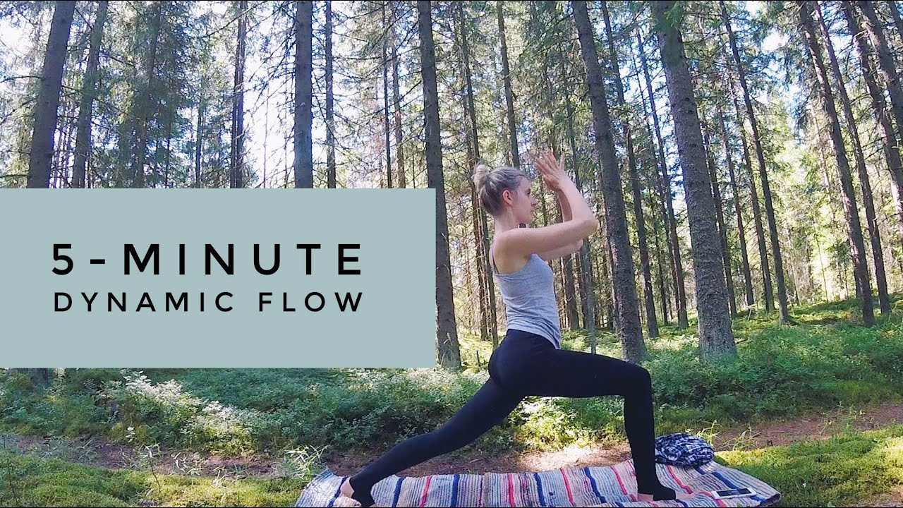 Fast Dynamic Vinyasa Yoga Flow For Your Back 5 Minutes Youtube