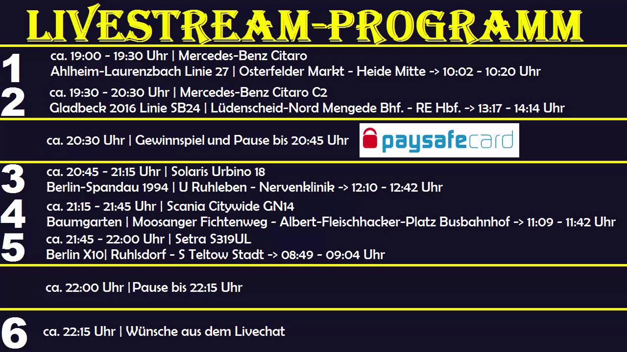 Livestream Programm
