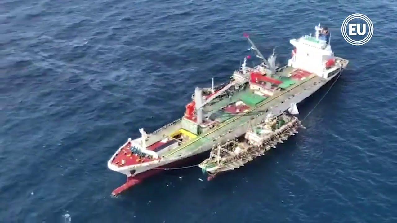 Barco Yong Xian 9, parte de flota china en Galápagos, sin localización actualizada hace cinco meses