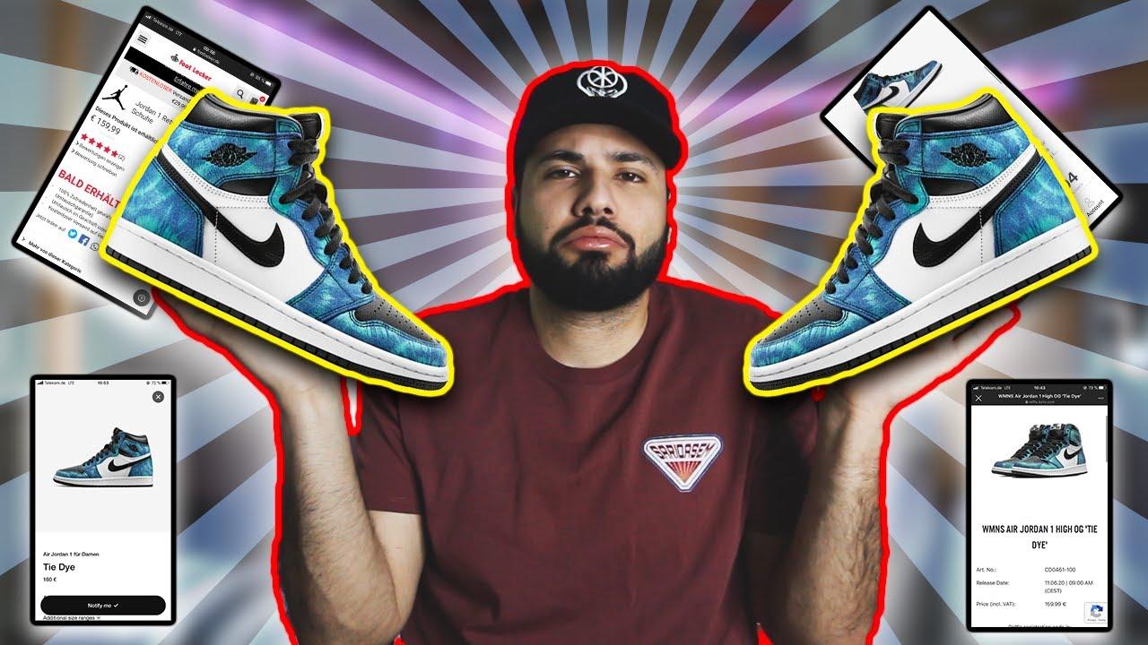 Where How To Buy The Nike Air Jordan 1 Tie Dye Youtube