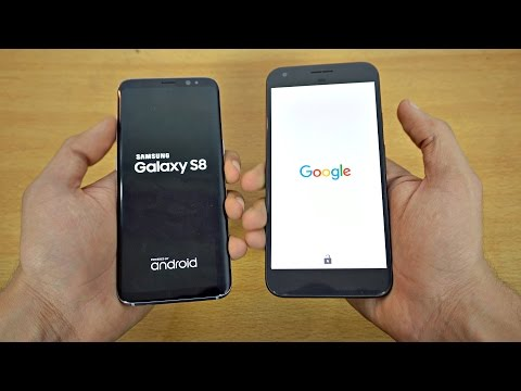 Samsung Galaxy S8 vs Google Pixel XL - Speed Test! (4K)