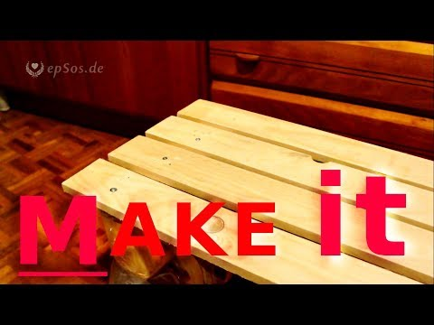 Building furniture with shipping pallets.