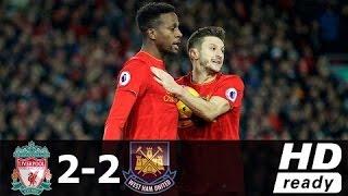 Liverpool 2 x 2 West Ham United - Goals & Destaques - EPL 11.12.2016 HD