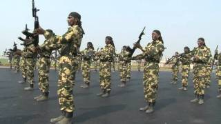 crpf rifle drill demonstration on the occasion of crpf annivesary 2011 mpg