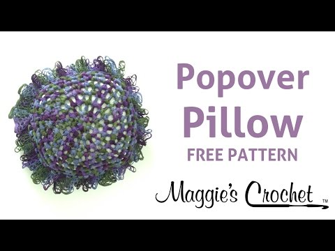 Starbella Popover Pillow Free Crochet Pattern - Right Handed