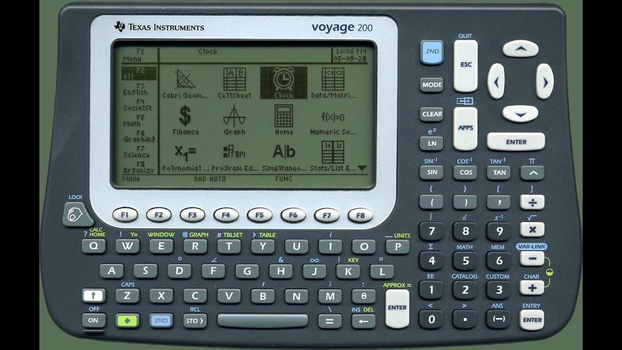 Texas Instruments Voyage 200 - Spiele installieren - YouTube