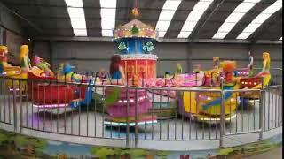 Thrilling fun fair rides amusement park equipment turntable rides for sale