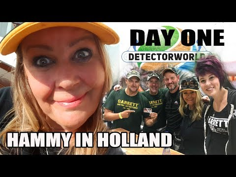Hammy in Holland - Digging with Relic Recoverist, KG & Ringy at Detectorworld #day one