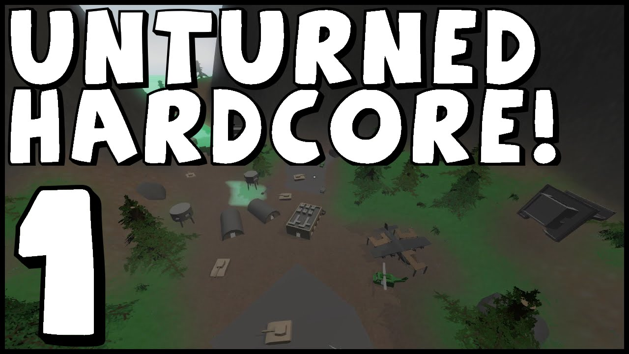 Unturned Hardcore Ep 1 Starting Off Strong Cliff USA Map YouTube