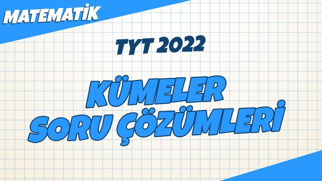 TYT Matematik - Kümeler Soru Çözümleri   TYT Matematik 2022 #hedefekoş