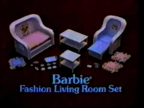 VINTAGE 80u0027S BARBIE DREAM FURNITURE COMMERCIAL   YouTube