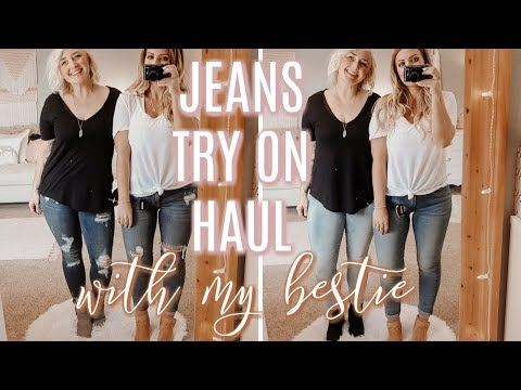 BEST JEANS for Curves | TRY ON HAUL w/my BFF