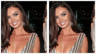Love Island's Kendall Rae Knight takes the plunge in figure hugging gold dress