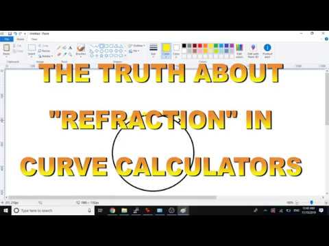 "FLAT EARTH ""REFRACTION"" IN  CURVE CALCULATORS thumbnail"