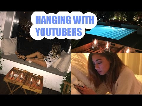 Hanging Out with Youtubers, The Grove, & Hollywood Lounge! | DailyPolina