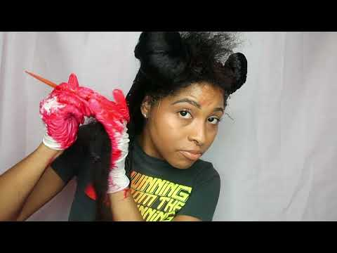 How to | Dye/Color Natural Hair Black to Red Tutorial (NO BLEACH or PERMANENT COLORING)