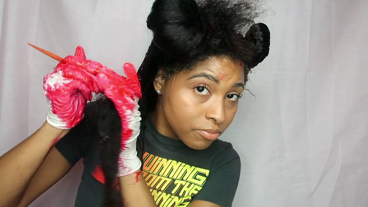 How To Dye Color Natural Hair Black To Red Tutorial No