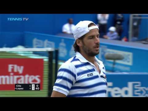 Feliciano Lopez beats Cilic in final thriller | Queen's 2017 Final Highlights