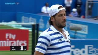 Feliciano Lopez beats Cilic in final thriller | Queen's 2017 Final Highlights